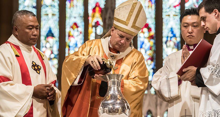 Chrism Mass (Maundy Thursday) , St Mary's Cathedral, Sydney
