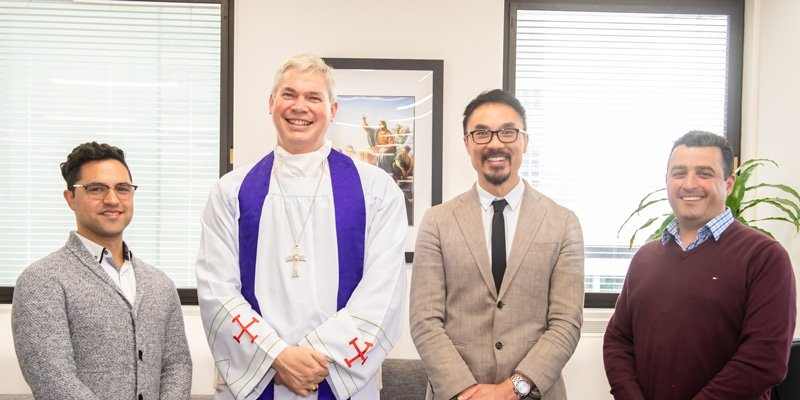 Chris Da Silva, Bishop Richard Umbers, Daniel Ang and Steven Buhagiar.