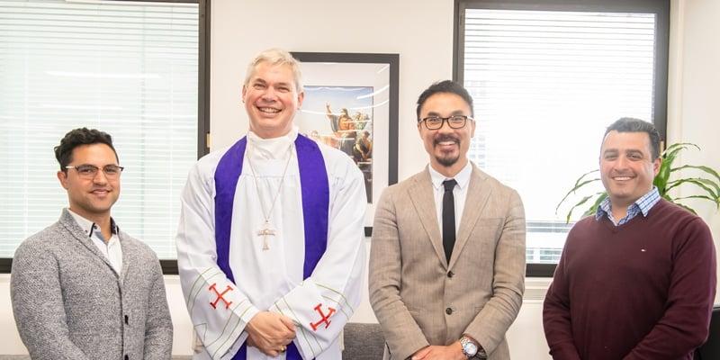Chris Da Silva, Bishop Richard Umbers, Daniel Ang and Steven Buhagiar.